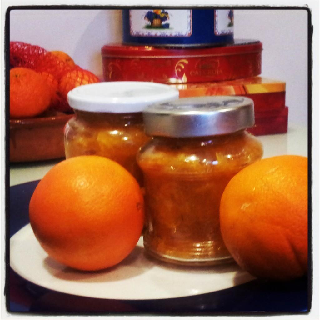 melada casera de naranja.